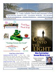 """""""Going Green for God"""" – March 16, 17, 18, 2012 - Saint Louis ..."""