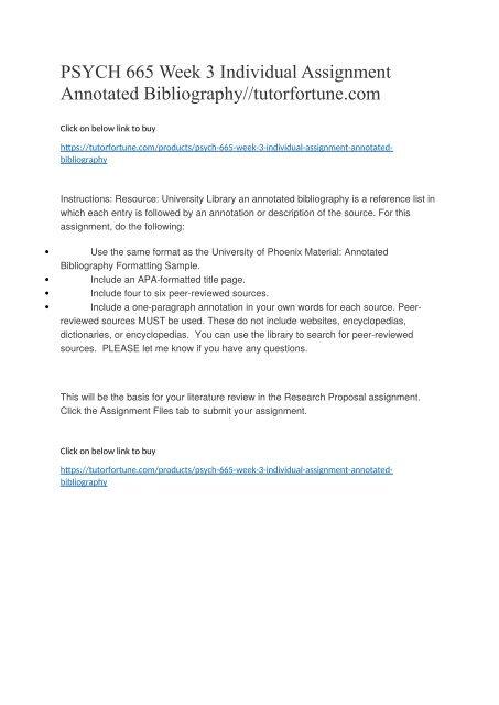 apa annotated bibliography formatting