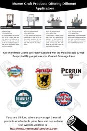 Beer Canning Machines