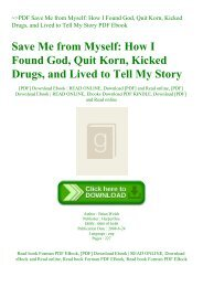 ~PDF Save Me from Myself How I Found God  Quit Korn  Kicked Drugs  and Lived to Tell My Story PDF Ebook