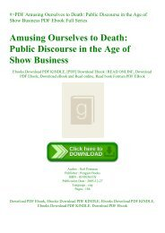 #PDF Amusing Ourselves to Death Public Discourse in the Age of Show Business PDF Ebook Full Series