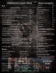 HIBERNIAN CRAFT BEER IRISH WHISKEY WINE ... - Hibernian Pub