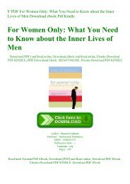 $^PDF For Women Only What You Need to Know about the Inner Lives of Men Download ebook Pdf Kindle