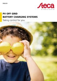 Steca Elektronik catalogue PV Off Grid (13 2019)