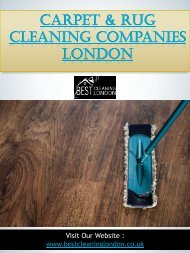 Carpet & Rug Cleaning Companies London