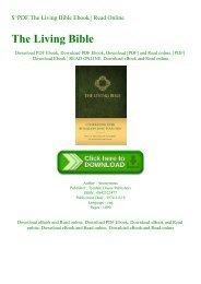 $^PDF The Living Bible  Ebook  Read Online