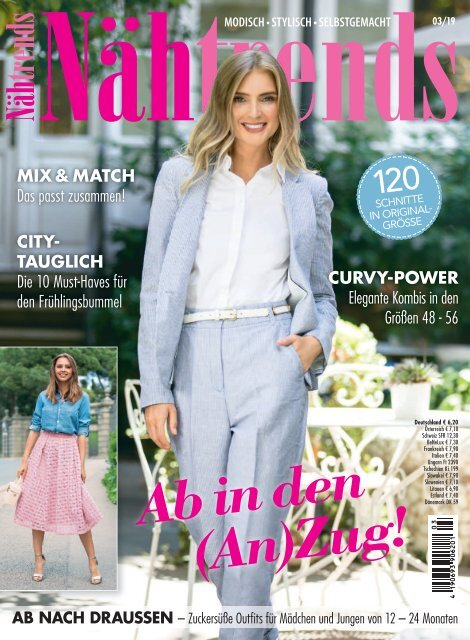 Zeitschrift: Nähtrends Nr. 3/2019