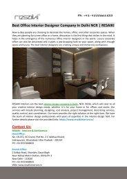 Best Office Interior Designer Company In Delhi NCR-RESAIKI