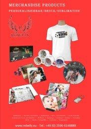 Rebelly Merchandise Katalog 2019