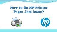 HP Printer Paper Jam Issue