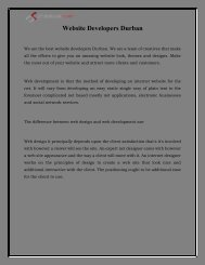 Website Developers Durban