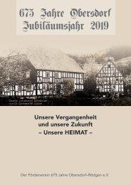 675 Jahre Obersdorf Jubiläumsbroschüre