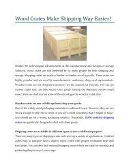 Wood Crates Make Shipping Way Easier!