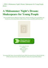 ~PDF A Midsummer Night's Dream Shakespeare for Young People eBook