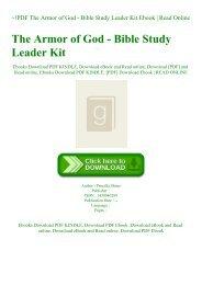 ~!PDF The Armor of God - Bible Study Leader Kit Ebook  Read Online