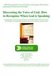 ~PDF Discerning the Voice of God How to Recognize When God is Speaking Download ebook Pdf Kindle