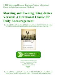 #PDF Morning and Evening  King James Version A Devotional Classic for Daily Encouragement Pdf eBook