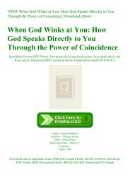 !#PDF When God Winks at You How God Speaks Directly to You Through the Power of Coincidence Download eBook