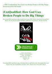 ~PDF (Un)Qualified How God Uses Broken People to Do Big Things Download ebook Pdf Kindle