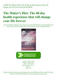 The Makers Diet Ebook