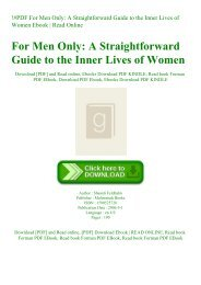 !#PDF For Men Only A Straightforward Guide to the Inner Lives of Women Ebook  Read Online