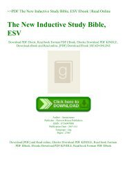 ~PDF The New Inductive Study Bible  ESV Ebook  Read Online
