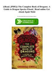 ((Read_[PDF])) The Complete Book of Dragons A Guide to Dragon Species Ebook  Read online Get ebook Epub Mobi