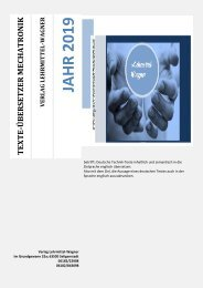 englische Textuebersetzung: Maschinenbau Bedienungsanleitung