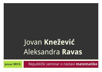 Aleksandra Ravas Jovan Knežević