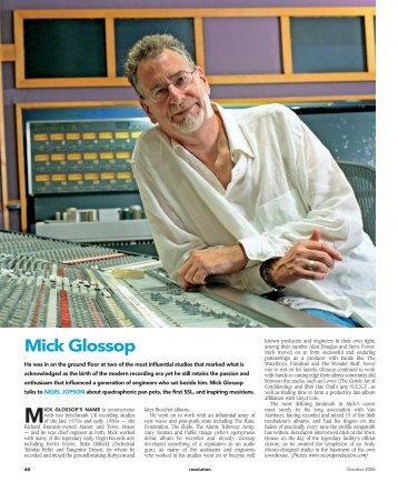 Mick Glossop - Resolution