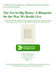 #PDF The Not So Big House A Blueprint for the Way We Really Live (Download Ebook)