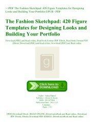~PDF The Fashion Sketchpad 420 Figure Templates for Designing Looks and Building Your Portfolio EPUB  PDF