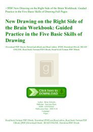 ~!PDF New Drawing on the Right Side of the Brain Workbook Guided Practice in the Five Basic Skills of Drawing Full Pages