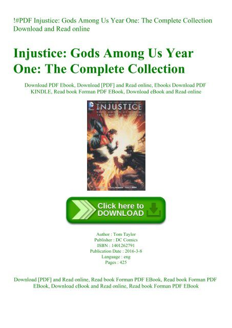 Pdf Injustice Gods Among Us Year One The Complete Collection Download And Read Online