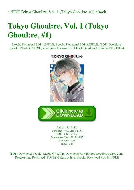 PDF Tokyo Ghoulre Vol  1 (Tokyo Ghoulre #1) eBook