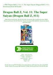 ~PDF Dragon Ball Z  Vol. 11 The Super Saiyan (Dragon Ball Z  #11) Download ebook Pdf Kindle