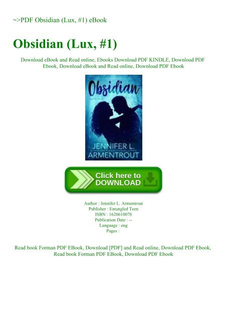 obsidian lux series pdf download
