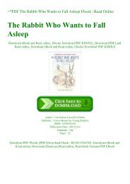 ~PDF The Rabbit Who Wants to Fall Asleep Ebook  Read Online