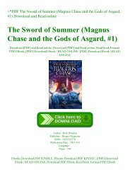 ~PDF The Sword of Summer (Magnus Chase and the Gods of Asgard  #1) Download and Read online