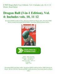 $^PDF Dragon Ball (3-in-1 Edition)  Vol. 4 Includes vols. 10  11  12 Ebook  Read Online