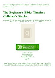 ~PDF The Beginner's Bible Timeless Children's Stories Download and Read online