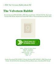 ~PDF The Velveteen Rabbit eBook Pdf