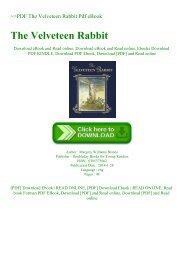 ~PDF The Velveteen Rabbit Pdf eBook