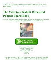 ~!PDF The Velveteen Rabbit Oversized Padded Board Book Ebook  Read Online
