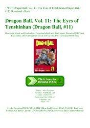 ~PDF Dragon Ball  Vol. 11 The Eyes of Tenshinhan (Dragon Ball  #11) Download eBook