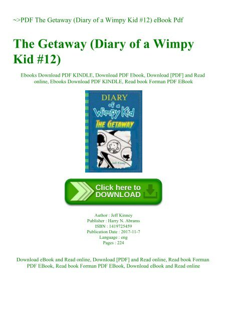 Pdf The Getaway Diary Of A Wimpy Kid 12 Ebook Pdf
