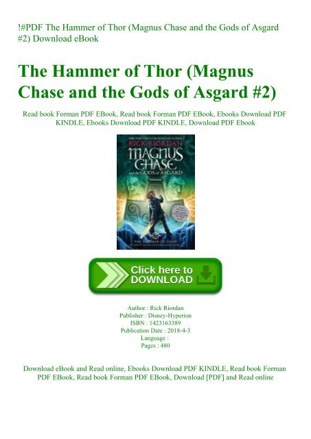 the hammer of thor free pdf download