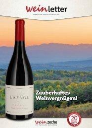 Weinzeche Weinletter 4_2019 – Die Kunst des Genießens