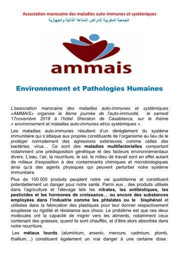 Editorial de la Huitieme Journée de l'Auto-Immunité à Casablanca