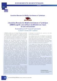 Environnement et maladies auto-immunes in Journal de biologie médicale